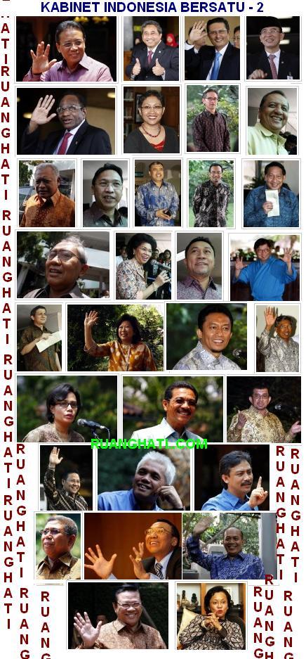Menteri-Menteri Kabinet Indonesia Bersatu Part-2