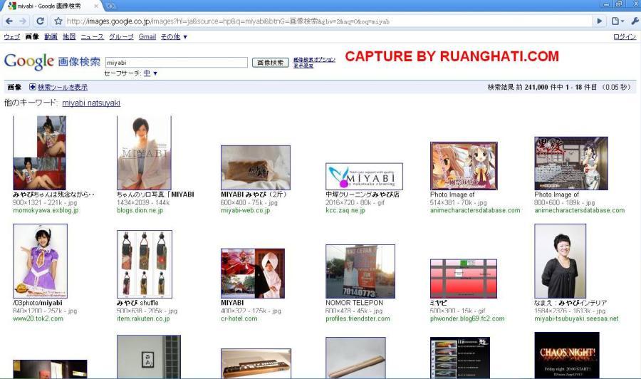 Capture Image Kata Kunci Miyabi dengan Google.co.jp (Tidak terlihat di Miyabi Maria Ozawa Bintang Bokep itu)